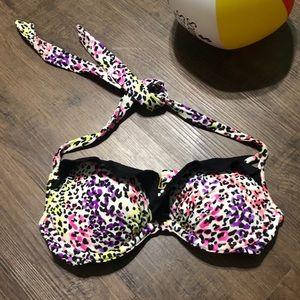 Victoria Secret Swim Bikini Top Colorful Sz 34A